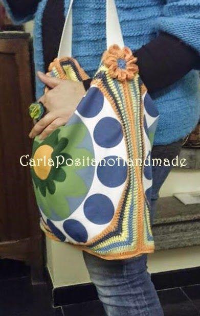 Carla Positano Handmade: Cucire il tessuto con il crochet