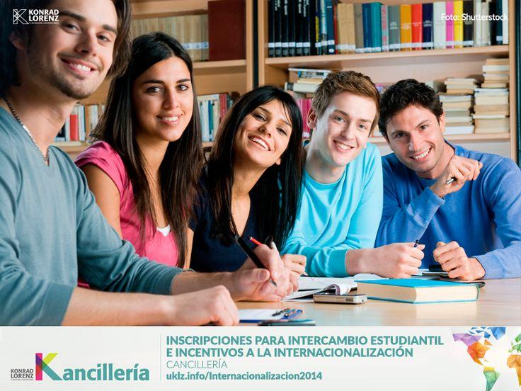 Recuerde, la Cancillería tiene abierta su convocatoria para todos los estudiantes interesados en intercambio estudiantil con universidades en el exterior y los incentivos a la internacionalización.  Encuentre toda la información en: http://uklz.info/Internacionalizacion2014