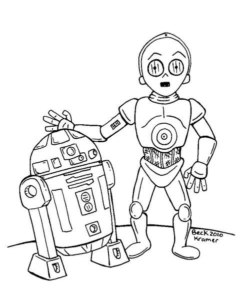 r2d2 coloring pages - photo #42