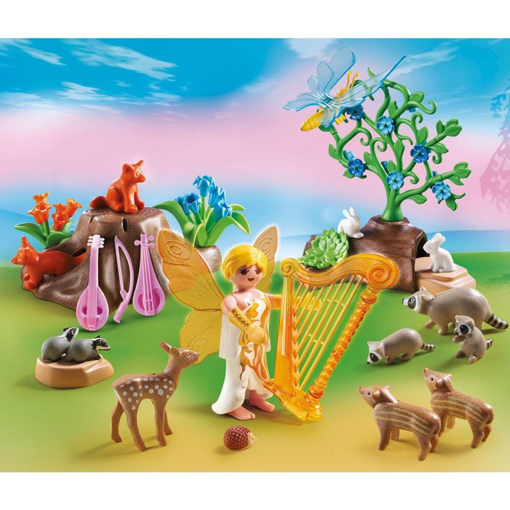 Playmobil Music Fairy With Woodland Creatures 5451