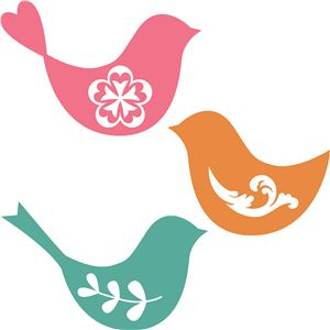 Silhouette - birds for S's room?