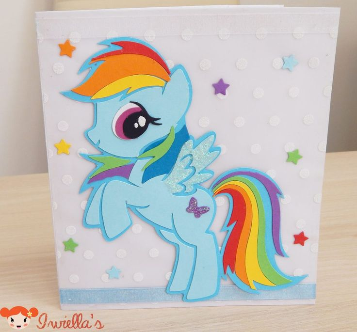My Little Pony card, My little Pony Birthday card