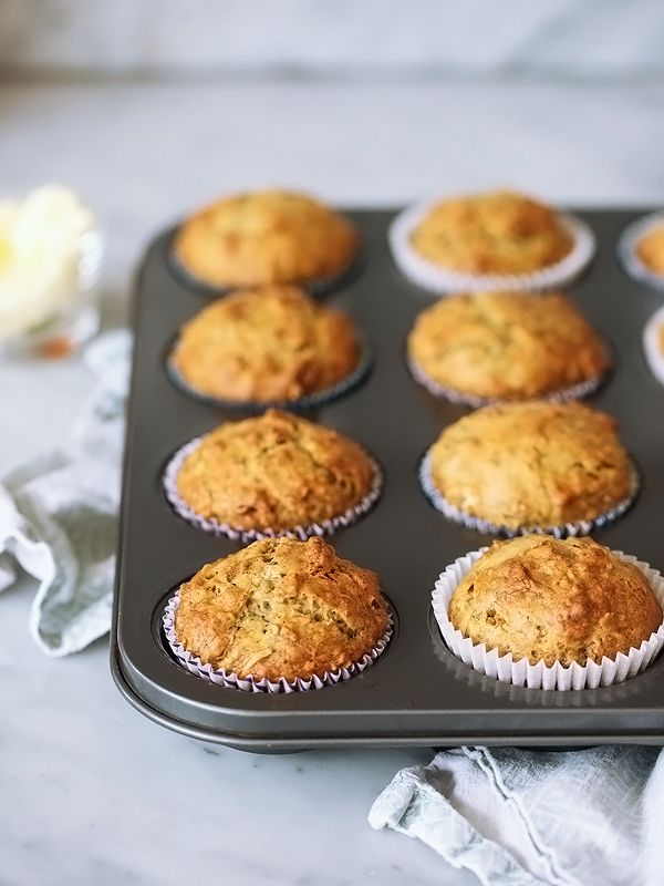 Banana Bread Muffins with Toasted Coconut