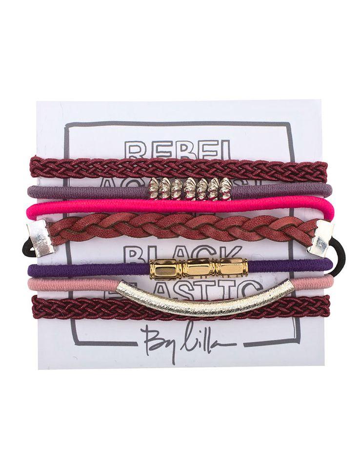 By Lilla | Raspberry Bellini Hair Tie Bracelet Set