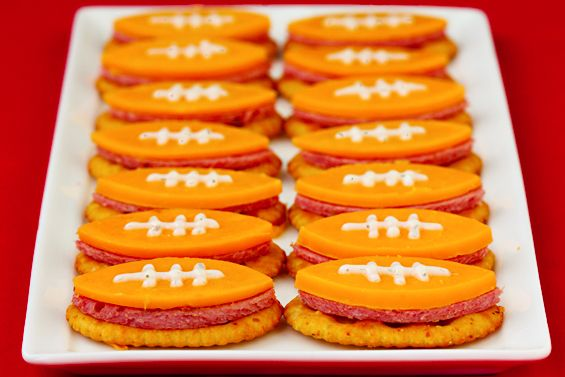 Football Bites (with summer sausage, cheddar and ranch).  Gotta have a football party!!: Football Seasons, Football Food, Football Shape, Food Ideas, Super Bowls, Football Parties, Parties Ideas, Football Bites, Parties Food