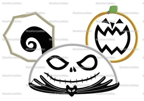 Jack Scary Christmas Movie Ornament Machine Applique Embroidery Design