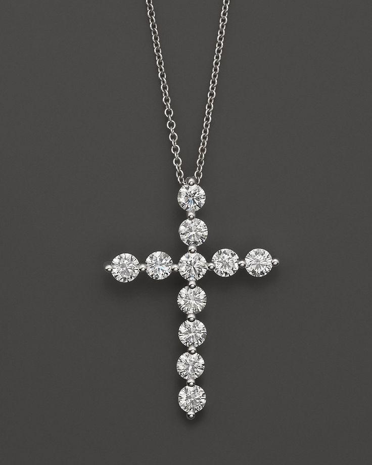beautiful diamond cross necklace!