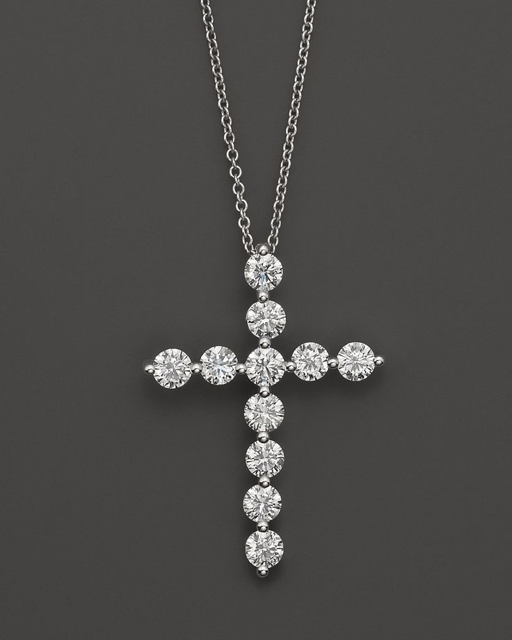 beautiful diamond cross necklace! I've been looking for a good one.