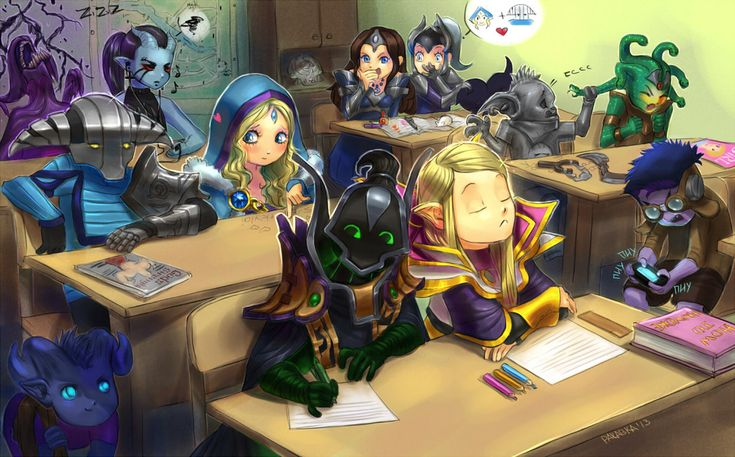 ~Bane ~Queen of Pain ~Mirana ~Luna ~Riki ~Sven ~Crystal Maiden ~Bounty Hunter ~Medusa ~Rubick ~Invoker ~Tinker ~Dota 2 ~by rakavka