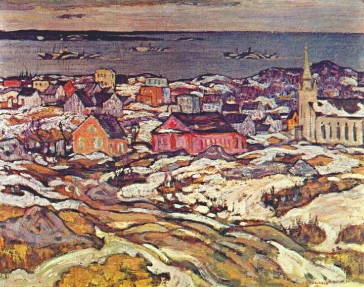 """A.Y. Jackson: """"Entrance to Halifax Harbour"""""""