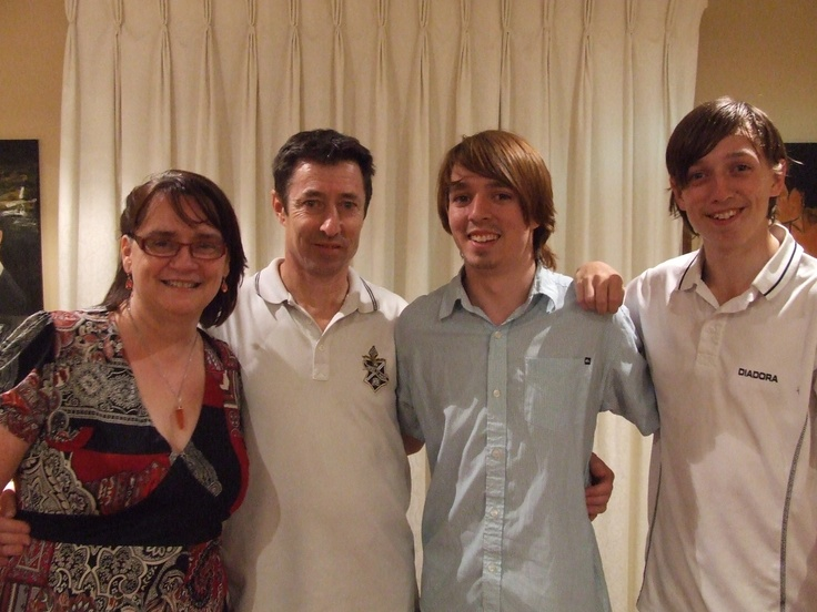 At our son Sean's 21st, at our house.