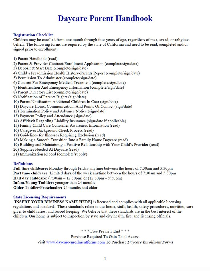 Pin by Daycare Enrollment Forms on Daycare Enrollment ...
