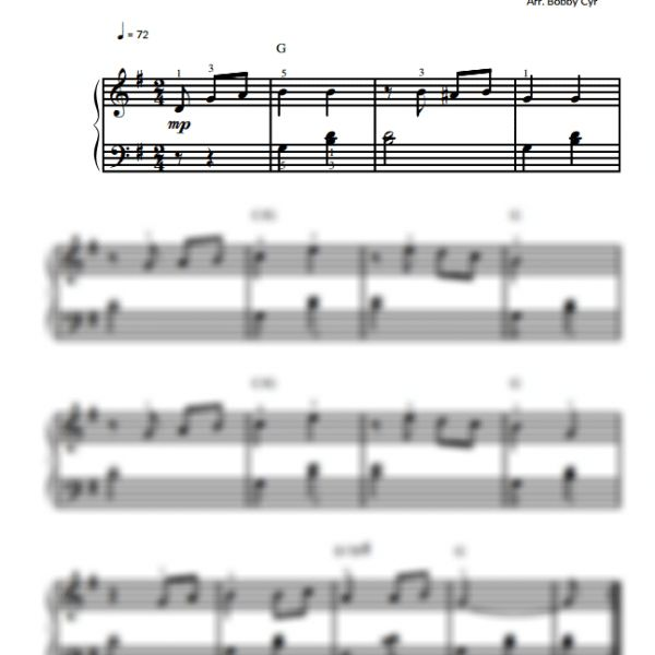 You Are My Sunshine - Easy Piano Sheet Music for Beginners / Piano Notion