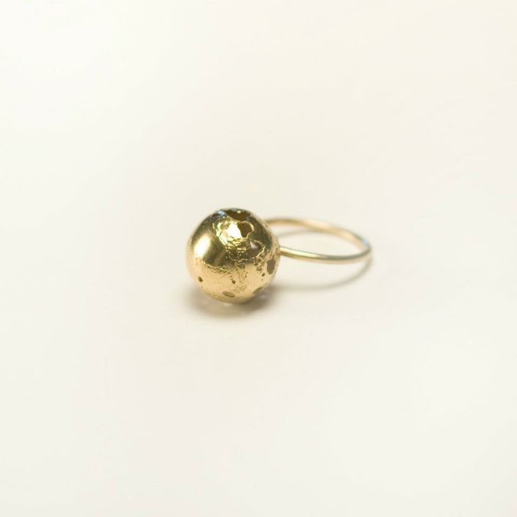 Lia Gonçalves | Joalharia de Autor _ ring_ corpos celestes collection _ golden silver