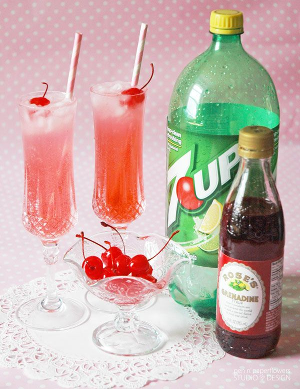 Get your kids in on the Valentine's Day celebrations by making them these delicious Shirley Temple fizzy drinks!