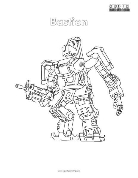 Bastion Coloring Page Overwatch Super Fun Coloring Pages