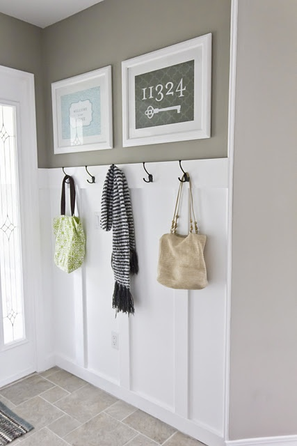 Love this foyer! Paint color is Valspar's Magic Spell