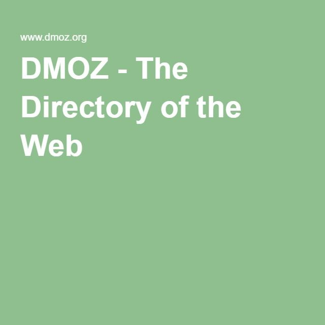 DMOZ - The Directory of the Web