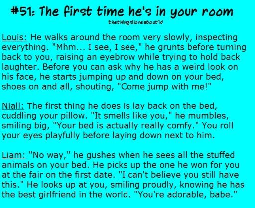 First time in your room.
