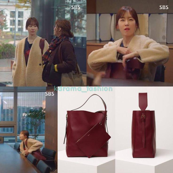 "514 lượt thích, 2 bình luận - @kdrama_fashion trên Instagram: ""Seo Hyun Jin carried VALEXTRA Sacca Medium Bucket_Bordeaux $2,150 in Temperature Of Love Drama…"""