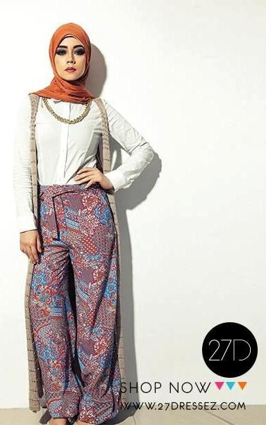 hijab plazzo pants outfit, 27dresses Eid collection http://www.justtrendygirls.com/27dresses-eid-collection/