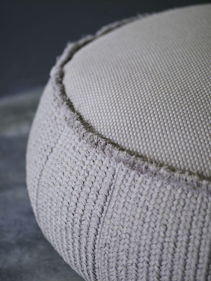 Piet Boon Styling by Karin Meyn | Grey fabric pouf