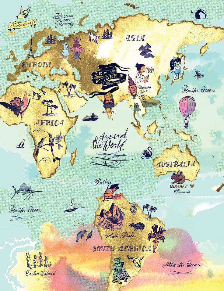 Around the World by Eili-Kaija Kuusniemi | Agent Pekka