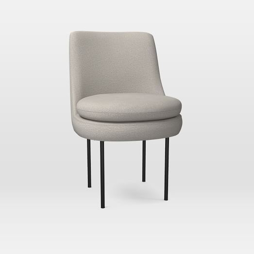 Incredible Modern Curved Upholstered Dining Chair Distressed Velvet Inzonedesignstudio Interior Chair Design Inzonedesignstudiocom