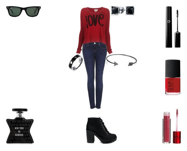 """New York Or Nowhere"" by rascaldiva ❤ liked on Polyvore featuring Topshop, Sundry, NARS Cosmetics, Lola Cosmetics, Ray-Ban, Bling Jewelry and Bond No. 9"