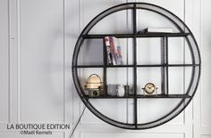Etagère CIRCLE Ronde Grillagée D100cm - Design Industriel - La Boutique Paris
