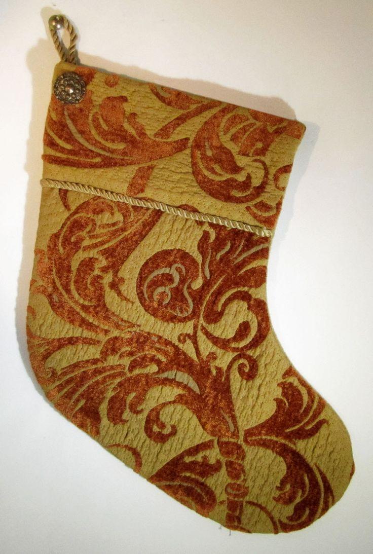 BAS DE NOËL-classique, Christmas stocking-classical de la boutique HOLESBAS sur Etsy