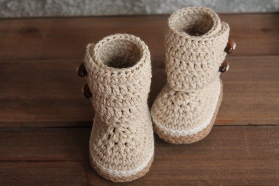 Crochet Pattern Baby Boots  Indie Crochet Baby by Inventorium