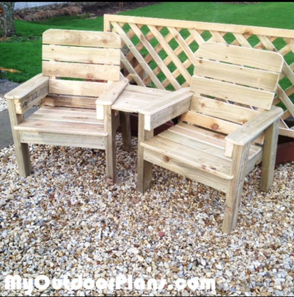 DIY Jack and Jill Chair Set | MyOutdoorPlans | Free Woodworking Plans and Projects, DIY Shed, Wooden Playhouse, Pergola, Bbq