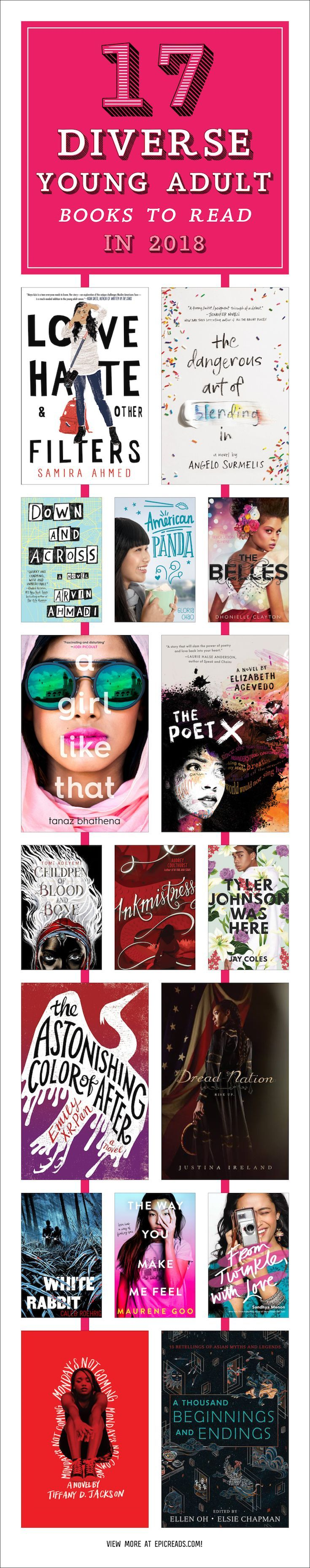 17 Diverse Young Adult Books to Read in 2018