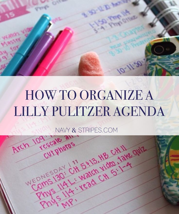 Lilly Agenda | college organization | lilly pulitzer