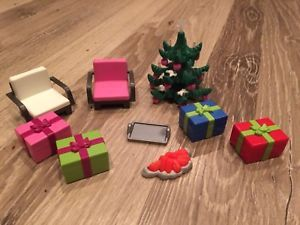 PLAYMOBIL Christmas Tree Presents Gifts Chairs Cookie Sheet Chairs LOT   | eBay