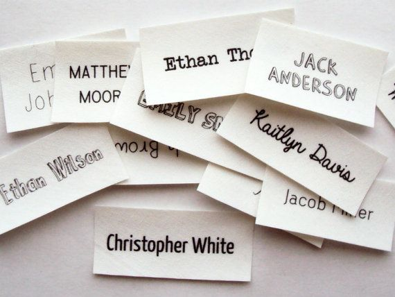 Iron On Name Tags personalized labels for kids by ananemone