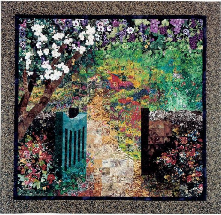 Fabric Art by Lenore Crawford - with link to purchaseable patterns to make these quilts.