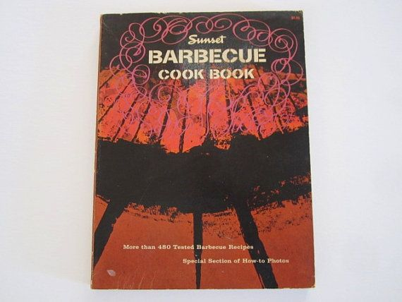 Retro Sunset Barbecue Cook Book from 1962 by Kissiana on Etsy
