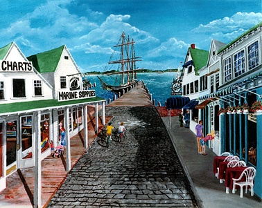 The wharf in Greenport, Long Island, NY via http://www.petetartaglia.com/greenportCU.htm