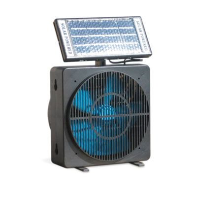""" After a storm, it's often hot, and if the power is still out, it can be sweltering,"" says Begal. To cool things down without electricity, charge a solar fan on your windowsill as soon as you receive a storm warning."""