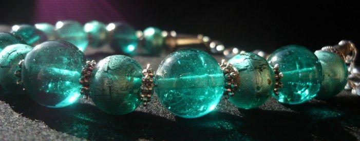 Collana verde acqua