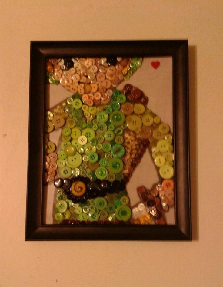 button-mosaic LinkButton Art, Crafts Ideas, Legends, Geeky Crafts, Buttons Art, Buttonmosa Link, Buttons Mosa Link, Geek Crafts, Buttons Mosaics