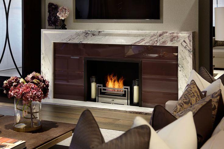 fireplace. neutral colors. décor.