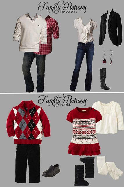 Family Picture Outfits. ... hrm... i think we all have similar items we could wear on monday...