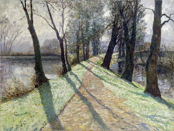 The First Frost, 1906 by Austrian impressionist painter Olga Wisinger-Florian