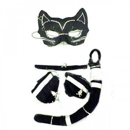 Maskeli Kedi Kadın Kostümü