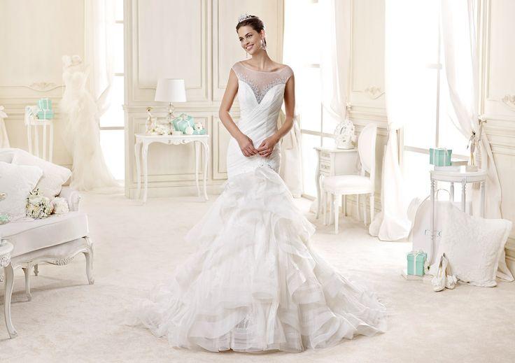 #Nicole #2015Collection  #wedding dress #nicolespose ► http://www.nicolespose.it/it/abito-da-sposa-Nicole--NIAB15101IV-2015?utm_source=socialutm_medium=postutm_term=NIAB15101IVutm_content=collezione2015utm_campaign=nicole