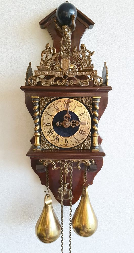 Last Day On Ebay This Zaanse Wall Clock 8 Day Nut Wood