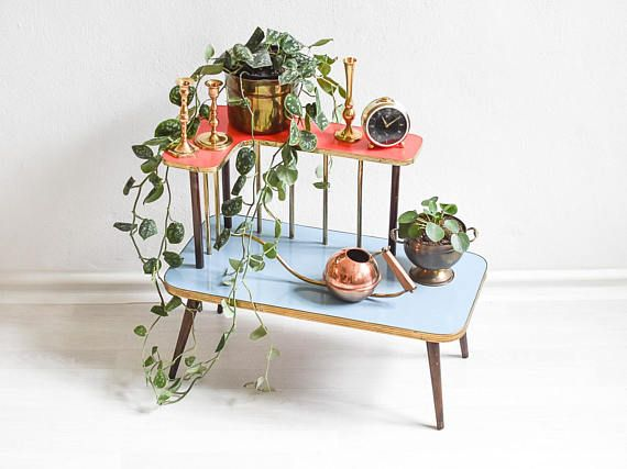 Tiered plant stand, Indoor plant stand, modern plant stand, 2 tier ...